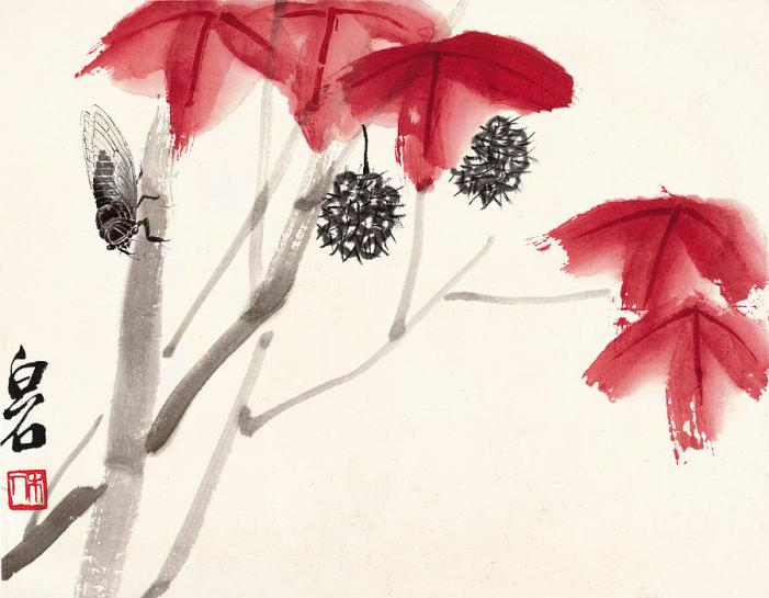 leaves-of-autumn-cicada-qi-baishi