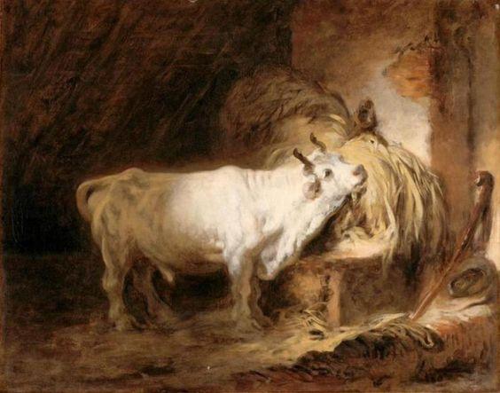 taureau blanc étable fragonard