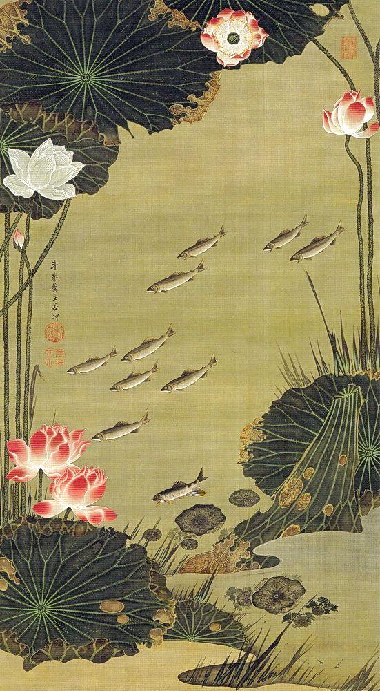 jakuchu-étangs-lotus02